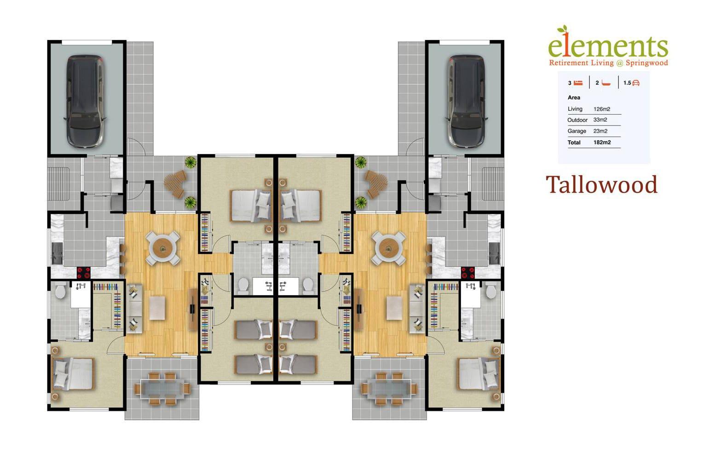 3 Bedroom Apartment - Elements Retirement Living Springwood